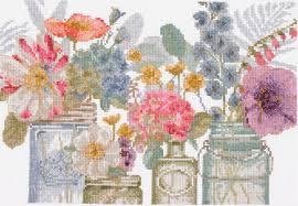 BL1167/76 Watercolor flowers in jars (DMC) купить в Минске набор ...
