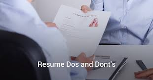 resume dos and dont s making recruiters take notice resume resume dos and dont s making recruiters take notice