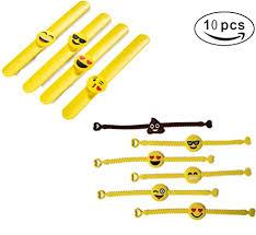Twshiny Emoji <b>Rubber</b> Bracelets Kit Novelty <b>Silicone Wristband</b> ...