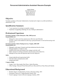 example resume administrative assistant template sample resume of executive assistant