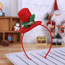 <b>Christmas Cartoon</b> Antler Santa Hat <b>Tree</b> Elf Hair Hoop <b>Glitter</b> ...