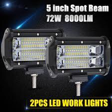 """<b>CO LIGHT</b> Led Bar Offroad 5"""" 72W Led Work <b>Light</b> Spot 12V 24V for ..."""