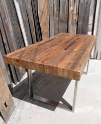 Dining Room Tables Reclaimed Wood Eclectic Kitchen With Salvaged Wood Trestle Rectangular Extension