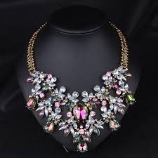 Elegant <b>Women Jewelry</b> Pendant Crystal <b>Choker</b> Chunky Statement ...