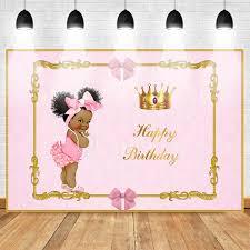 <b>Neoback</b> Happy Birthday Photo Backdrop for <b>Princess</b> Pink Style ...