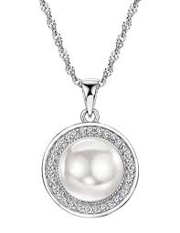 Freshwater Pearl Pendant Necklace Sterling Silver ... - Amazon.com