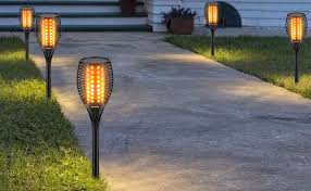 Cinoton Solar Light, Path Torches Dancing Flame ... - Amazon.com