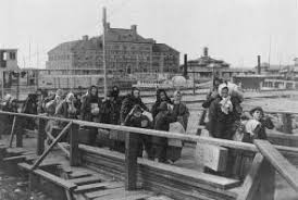 coming to america ellis island and new york city  the gilder  landing at ellis island ca  lc usz