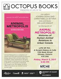 book launch of animal metropolis histories of human animal animal metropolis book launch poster