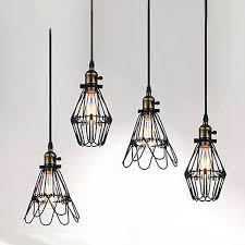 black twisted cable unique american style edison pendant lightvintae bird cage decoration pendant lamp cable pendant lighting