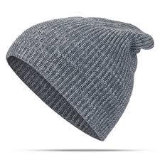 <b>women</b> mens <b>solid</b> woolen warm <b>knit beanie cap</b> adjustable ...