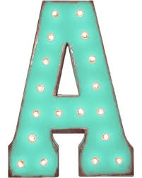 "<b>Hot Sale</b>: 21"" Letter A Metal Marquee Light Up Sign, <b>Rustic</b> ..."