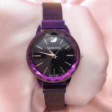 Swarovski <b>Crystal</b> Watch <b>Rainbow color</b> unisex women <b>fashion</b> ...