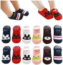QandSweat Baby Toddler Non-skid Socks Little Girls <b>Cute Cartoon</b> ...