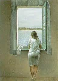 Resultado de imagem para Rapariga à janela Dali