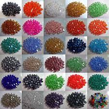 Wholesale!100pcs <b>4</b>/<b>6</b>/<b>8mm Crystal</b> 5301# Bicone Beads U Pick ...