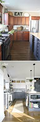 guide making kitchen: build cabinets up to the ceiling to add height to the kitchen