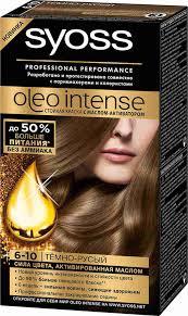 <b>Краска д</b>/<b>волос Syoss</b> Oleo 6-10 Тёмно-русый: купить в Санкт ...