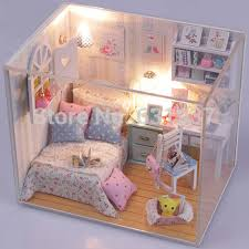 2015 new arrive diy doll house miniatura 3d wooden dollhouse miniature furniture for children toys dolls building doll furniture
