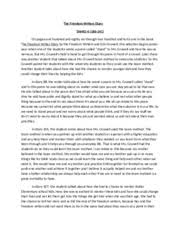 Compare and Contrast   Compare  Contrast Essay The Freedom Writers     Course Hero