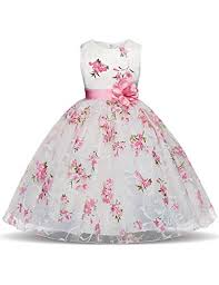 LIVFME <b>2</b>-<b>8T Flower</b> Girl Dress Pink for Wedding Party Pageant ...