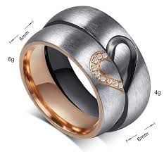 Aegean Jewelry Titanium Couple <b>Fashion Wedding Band Ring</b> We ...