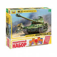 <b>Сборная модель Звезда</b> 3524П <b>Советский</b> танк Ис-2 196 дет ...