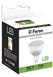 <b>Лампа</b> светодиодная <b>Feron LB</b>-<b>26</b> MR16 <b>G5</b>.<b>3</b> 7W 4000K 25236 ...
