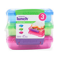 <b>Набор из 3 контейнеров</b> Sistema для сэндвичей 450мл Новая ...