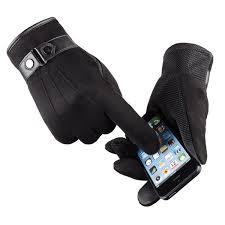 2019 Winter <b>Mittens Men'S Gloves Suede</b> Keep Warm Touch Screen ...