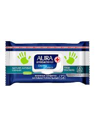 <b>AURA Влажные салфетки</b> антибактериальные <b>Derma</b> Protect ...