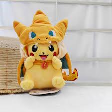 <b>Kawaii Pikachu Cosplay</b> Charizard <b>25cm</b> Cartoon Anime Plush Toy ...