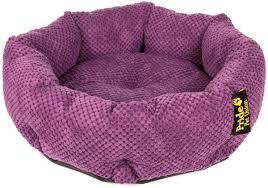 "<b>Лежак</b> для животных <b>Pride</b> ""<b>Ватрушка</b>. Велюр"", цвет: фиолетовый ..."