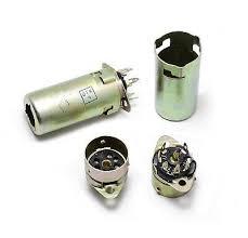<b>8pcs</b> 7-pin <b>Bakelite Tube Socket</b> Shield 46mm Silver USSR EAA91 ...