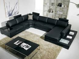 t35 black modern leather sofawith headrests black leather sofa office
