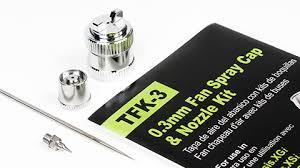 Grex <b>Airbrush</b> - TFK-3 - Grex Fan <b>Spray</b> Cap with <b>Nozzle</b> Kit, <b>0.3</b>mm