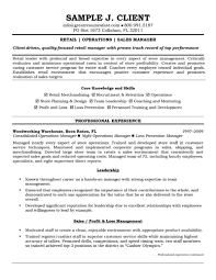 sample store manager resume template resume sample information sample resume template for retail operation and s manager professional experience