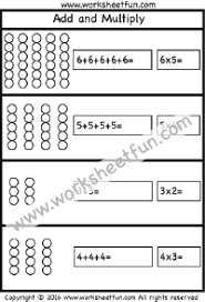 Multiplication – Repeated Addition / FREE Printable Worksheets ...Multiplication – Add and Multiply – Repeated Addition -One Worksheet