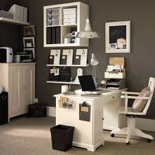 attractive home office design ideas with walls painted of dark grey plus white wooden skirting also attractive home office