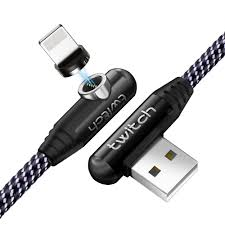 Twitch 90 Degree Elbow Nylon Magnetic cable 3A Quick Charge ...