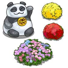 <b>Panda</b> With <b>Hieroglyph</b>, Feng Shui And Flower Beds Royalty Free ...