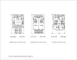 Pontefino Residences   VSS Land and Homes Realty Phase II Shophouses Floor Plans