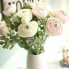 "<b>Artificial Ranunculus</b> Flowers 22.8"" Long Real Touch <b>1PCS</b> Home ..."