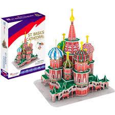 Купить 3D пазл <b>Cubicfun Собор Василия</b> Блаженного (Россия ...