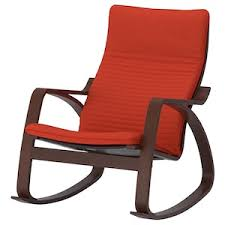 POÄNG <b>Rocking</b>-<b>chair</b> - <b>brown</b>/Knisa red/orange - IKEA