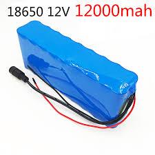 18650 <b>12V Rechargeable Battery</b> DC 11.1V 12.6V 18650 Li ion ...