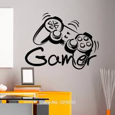 zones bedroom wallpaper: game controller gamer game zone wall art sticker decal home diy decoration wall mural removable bedroom