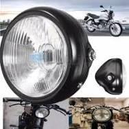 <b>motorcycle</b> parts: <b>Motorcycle</b> Retro Front Headlight Black Metal ...