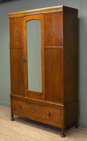 oak art deco antique wardrobe art deco figured walnut wardrobe vintage