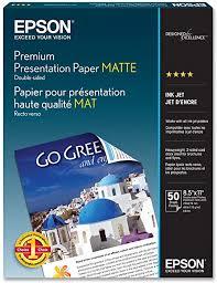 <b>Epson</b> Premium Presentation Paper <b>MATTE</b> (8.5x11 Inches, <b>Double</b> ...